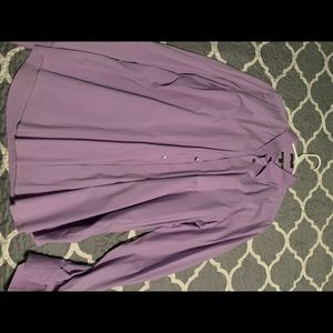 Express men's purple modern fit dress shirt